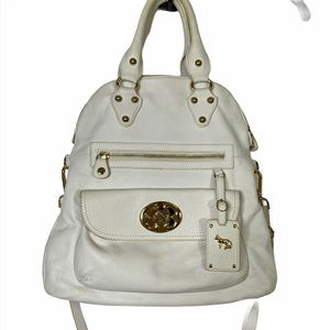 Emma Fox White Foldover Tote Purse Crossbody